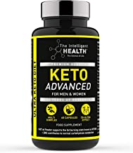 Keto Diet Pills for Men Women – 60 Capsules – Weight Loss Advanced Keto Pro Plus Tablets Contains MCT Oil – Slimming Food Supplement by The Intelligent Health Estimated Price : £ 17,97