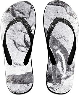 Wendex White Horse Mens Beach Flat Rubber Sandals Flip Flops