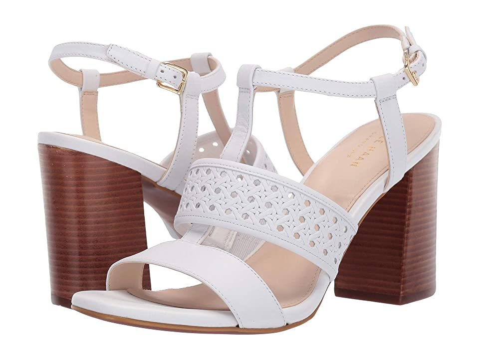 Cole Haan Cherie Grand Block Sandal (Optic White Weave) Women