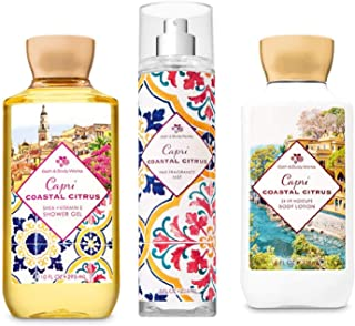 Capri Coastal Citrus - Shower Gel, Fine Fragrance Mist and Body Lotion - Bath and Body Works - Daily Trio 2019