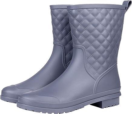 Asgard Women's Mid Calf Rain Boots Waterproof Garden Shoes