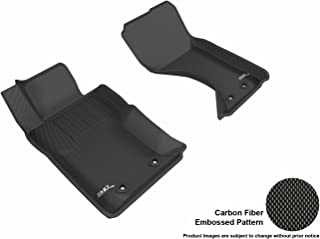 3D MAXpider Front Row Custom Fit All-Weather Floor Mat for Select Mazda MX-5 Models - Kagu Rubber (Black)