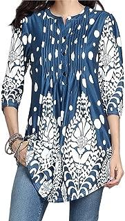 T Shirts for Womens, FORUU 3/4 Sleeve Circular Neck Printed Tops Loose Blouses