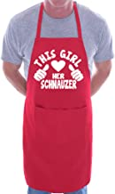 This Girl Loves Her Schnauzer Dog BBQ Cooking Funny Novelty Apron