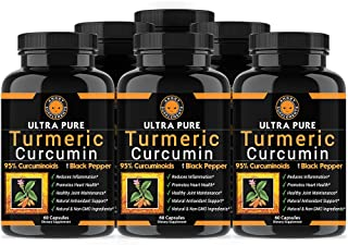 Angry Supplements Ultra Pure Turmeric Curcumin with BioPerine, Black Pepper Extract, 95%...