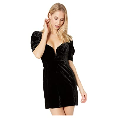 For Love and Lemons Viva Deep V Mini Dress (Black) Women