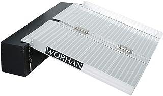 WORHAN® 61cm Rampa Plegable Carga Silla de Ruedas Discapacitado Movilidad Aluminio Anodizado 61cm R2
