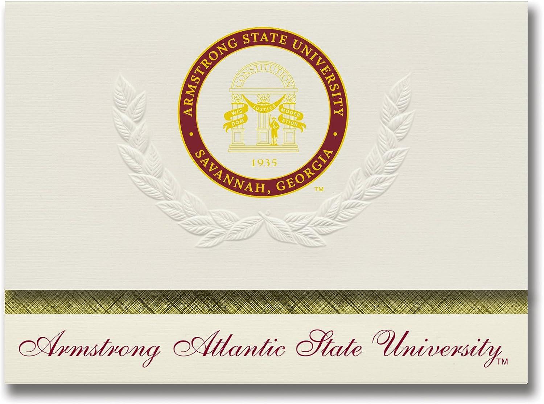 Signature Ankündigungen Armstrong Staatliche Universität Graduation Ankündigungen, platin Stil, Stil, Stil, Elite Pack 20 mit Armstrong Atlantic State u. Dichtung Folie B0793MC52K  | eine große Vielfalt  76561d