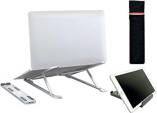HOPLAZA Supporto PC Portatile 10-17 Pollici Regolabile Richiudibile Ergonomico Supporto per Laptop Antiscivole con Supporto per Telefono per Tablet Mac Book PRO//Air iPad dell HP Lenovo