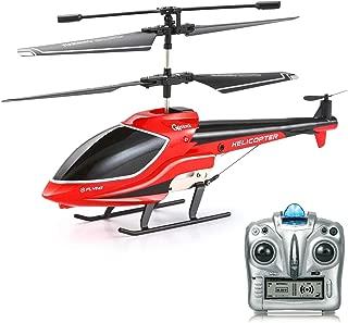GoStock Helicóptero RC Helicóptero de Control Remoto, 3.5 Canales con Giroscopio Control Remoto Helicóptero para Niños y Adultos Interior al Aire Libre Regalo para Niños Niñas