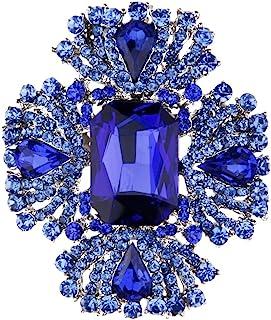 Spille In Cristallo Donne Sciarpa Nuziale Della Signora Fascino Spilla Pin Gioielli Blu