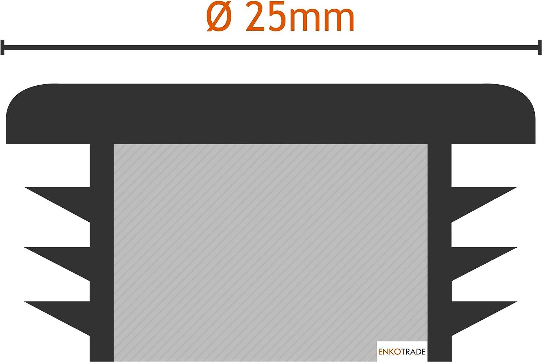 de pl/ástico de polietileno de alta calidad para tuber/ías 10, 20 mm de di/ámetro color blanco tapones redondos tapones finales Enkotrade Tapones de l/áminas redondos