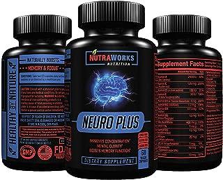 Neuro Plus Brain Support Supplement - Memory, Focus & Clarity Formula - Nootropic Scientifically Formulated for Optimal Pe...