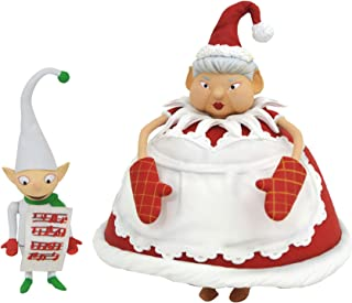 DIAMOND SELECT TOYS The Nightmare Before Christmas: Cyclops & Mrs. Claus Select Action Figure Two-Pack, Multicolor