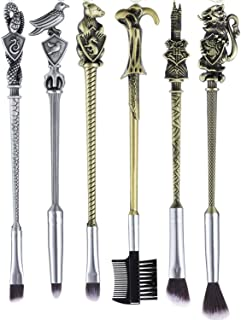6pcs Wizard Wand Brush kit for Women and Girls, Metal Cosmetic Makeup Brushes Set
