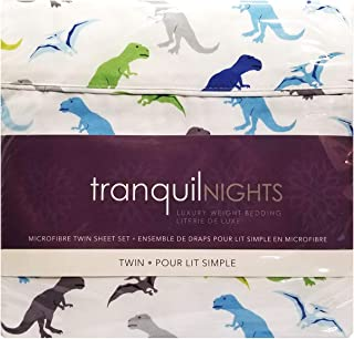 TRANQUIL NIGHTS - Luxury Weight Bedding 100% Soft Polyester Microfibre (Dinosaurs, Twin 3-Piece)