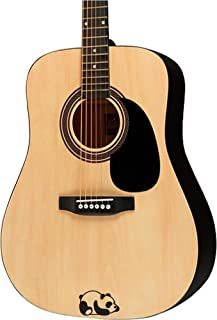 Guitar sticker decal - panda laying down - violin electric guitar ukulele designs