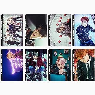 8 Pack/240 Pcs BTS Lomo Card KPOP Bangtan Boys Photocards WINGS Greeting Card with Postcards Box