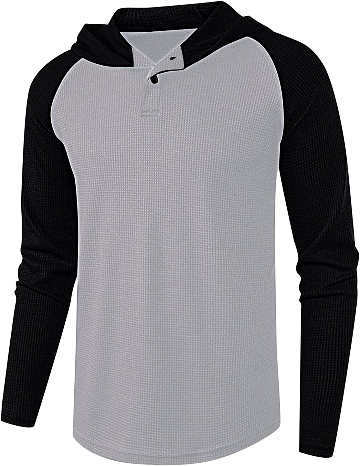 Mens Long Sleeve T-Shirt Casual Tops Tee Classic Fit Basic Shirts Round Neck V-Neck