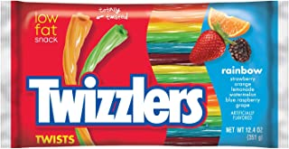 TWIZZLERS Licorice Candy, Rainbow, 12.4 Ounce (Pack of 6)