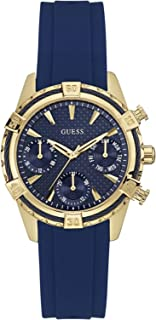 Guess Women's Blue Dial Stainless Steel Band Watch - W0562L2