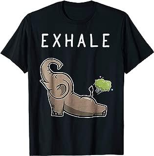 Exhale Funny Elephant Fart Shirt Elephants Yoga Gift