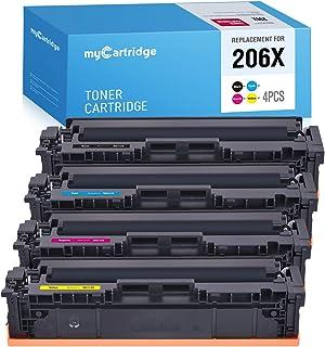 MYCARTRIDGE (NO CHIP) Compatible Toner Cartridge Replacement for HP 206X W2110X W2111X W2112X W2113X for Color Laserjet Pr...