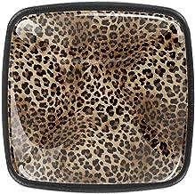 Keukenkast knoppen - Dierlijke luipaardprint - Knoppen voor dressoirladen voor kast, kast, badkamer of kantoor - Pack van 4