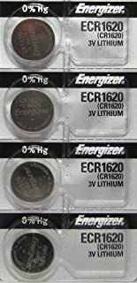 4 Energizer CR1620 Lithium 3V Coin Cell Batteries