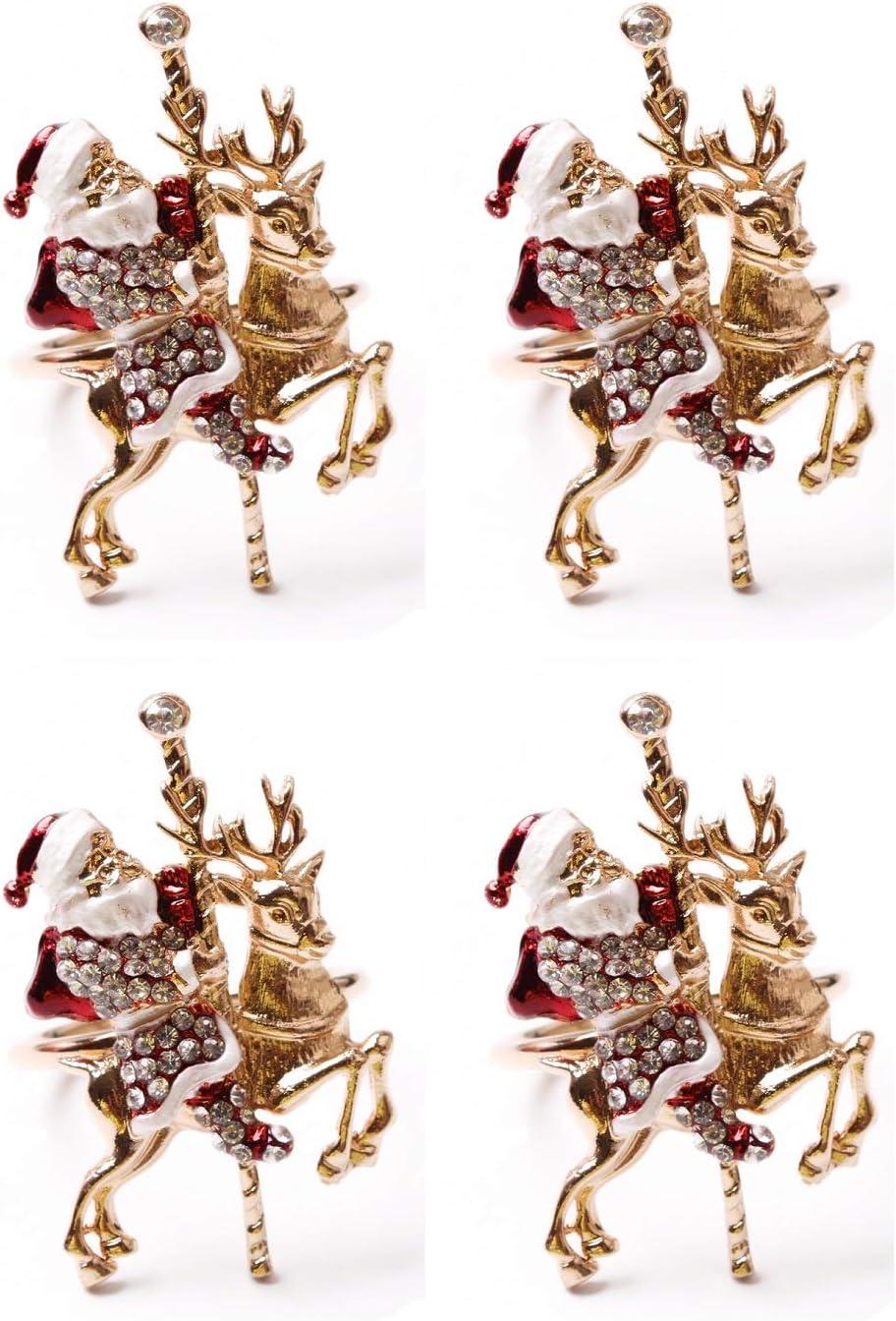 Allinlove online shopping Christmas Napkin Rings Sef 4 Claus Santa of Ri quality assurance