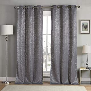 kensie Maddie Blackout Curtain, W38 X L84, Grey