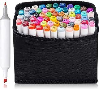 أقلام تلوين ذات أطراف مزدوجة أقلام أقلام تلوين وألوان فاحصة، أقلام تحديد دائمة لرسم الرسم بالخط من مجلة التلوين الفنية