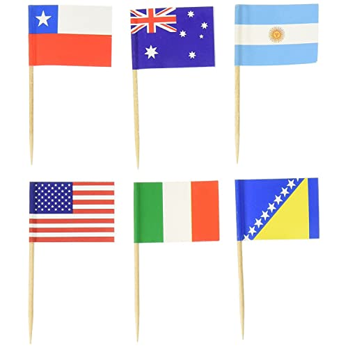 1be94cfbdd6 PuTwo Toothpicks Pack of 100 World Flags Cocktail Sticks for International  and Ethnic Events