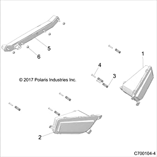 Polaris Center Taillight Assembly, Genuine OEM Part 2413431, Qty 1