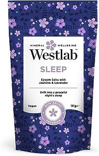 Westlab's Sleep Epsom & Dead Sea sales con lavanda y jazmín, 1 kg