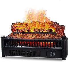YLJYJ Los Registros de la Chimenea eléctrica establecen la calefacción de la Estufa de leña con Control Remoto de protección de sobrecalentamiento de Cama de ascua Realista 1800W
