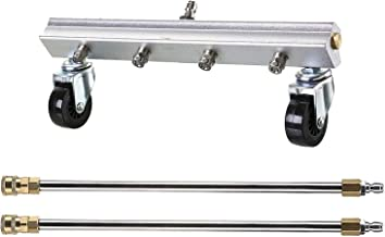 BINGFANG-W tools Hogedrukreiniger Water Broom, 13 Inch Macht Washer Cleaner Met 2 stuks 15 Inch Extension Wand Sweep Opri...