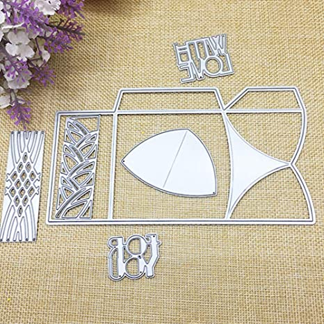 BYyushop Cutting Dies for Christmas Greeting Cards Making,3D Gift Box Elements Cutting Die Scrapbooking Embossing Cards Making Stencil H1830