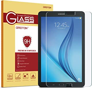 OMOTON Samsung Galaxy Tab E 9.6 Screen Protector, Tempered Glass, [9H Hardness] [Crystal Clear] [Scratch-Resistant] [Easy Installation] Perfect for Samsung Galaxy Tab E 9.6 inch Tablet(2015 Released)
