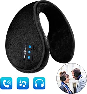 Unisex Bluetooth Earmuffs Headphones Ear Wamer, MUSICOZY Foldable Winter Ear Muffs Warmers for Men Women Kids,Built-in HD Speakers and Microphone with Carry Pouch for Biking Running Walking Dog Hiking