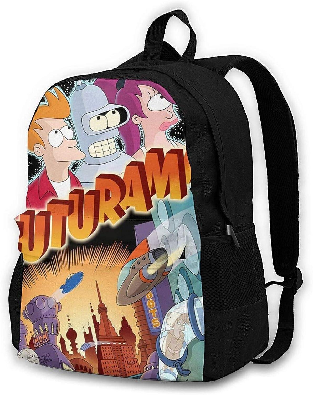 Teens Adults Max 59% OFF Futurama Oklahoma City Mall Backpack Travel Anime Cas Bookbag Daypacks