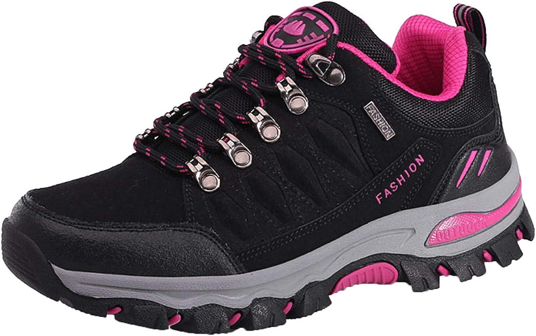 Eariuhfj Women's Waterproof Non-Slip Hiking Running Shoe Athletic Outdoor Sport Walking Trekking Sneakers Climbing Trail Hiker Boots