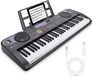 Magicfun Tastiera Elettronica 61 Tasti, Pianoforte Digitale Tastiera Musicale con Supporto Foglio di Musica, Altoparlante ...