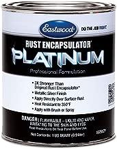 Eastwood Rust Encapsulator Platinum Quart UV Resistant Aluminum Finish Easy Apply High-Tech Formula for Vehicles Steel Building Structures