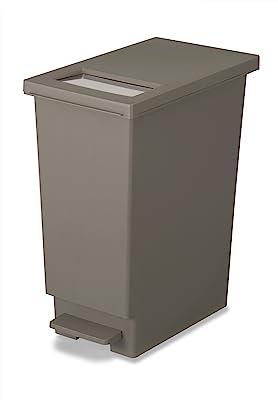 トンボ ゴミ箱 45L 日本製 フタ付き プッシュタイプ ペダル式 ブラウン ユニード 新輝合成 45S