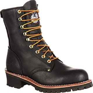 carolina men's logger 8 work boots