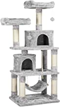YAHEETECH 58.7 inches Cat Tree Cat Towers Cat Condo with Platform & Hammock, Scratching Posts for Kittens Pet Play House with Plush Perch for Indoor Activity Relaxing