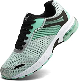Ahico Sneakers Running Shoes Air Cushion Women Tennis Shoe Lightweight Fashion Walking Breathable Athletic Training Sport for Womens