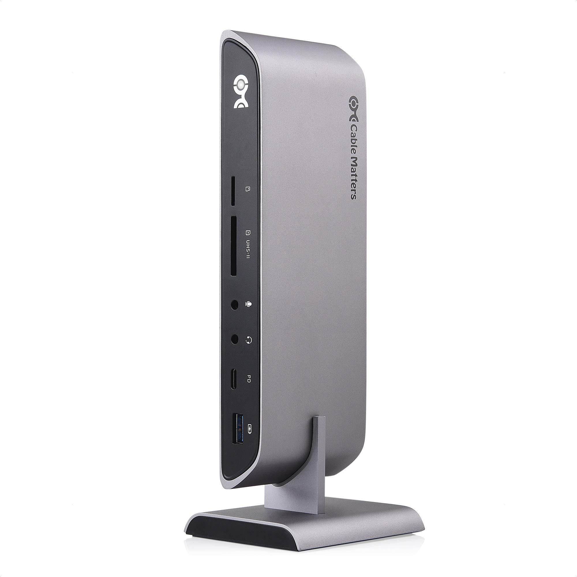 Cable Matters 10Gbps USB C Dock with Dual 4K HDMI and 80W Charging for Windows USB C Docking Station USB-C /& Thunderbolt 3 Port Compatible Supports One External Display with MacBook Pro