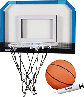 Franklin Sports Over the Door Indoor Mini-Basketball Hoop for Kids with Ball and Pump - Breakaway Pro Style Steel Rim – Shatter Resistant Backboard